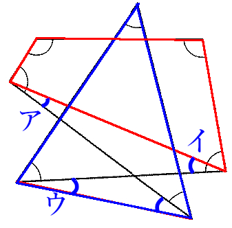 一筆書き図形の角度の和