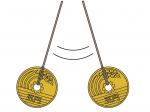5円玉振り子のイラスト