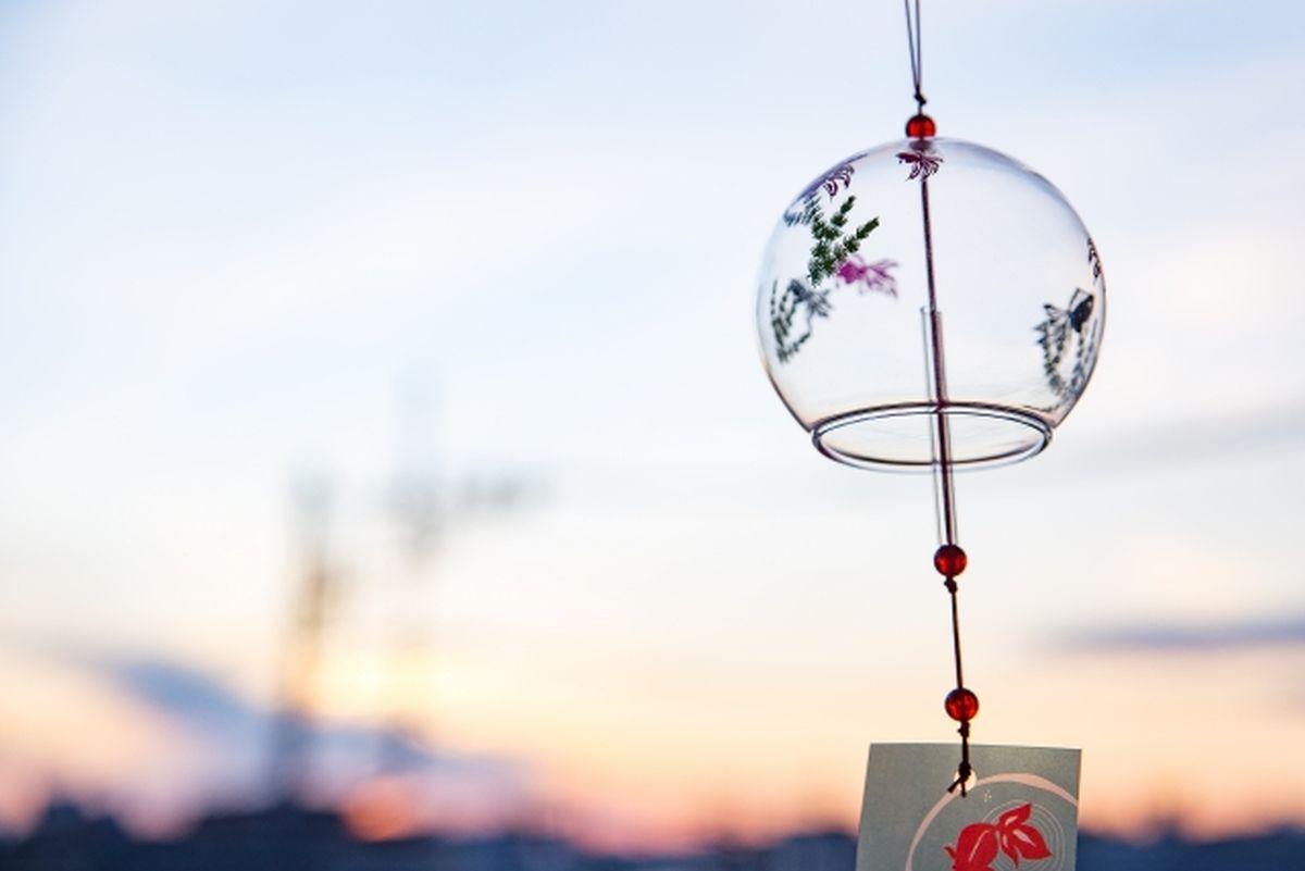風鈴と夏の夕焼け
