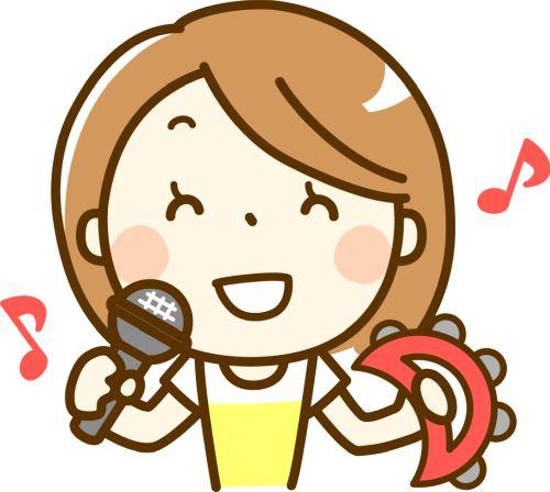 カラオケを楽しむ女の子のイメージ