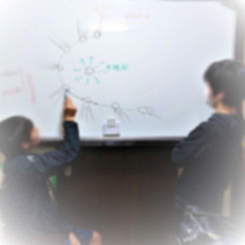 イオンテールとダストテールについての塾生達の授業