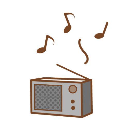 ラジオで音楽番組を聴くイメージ