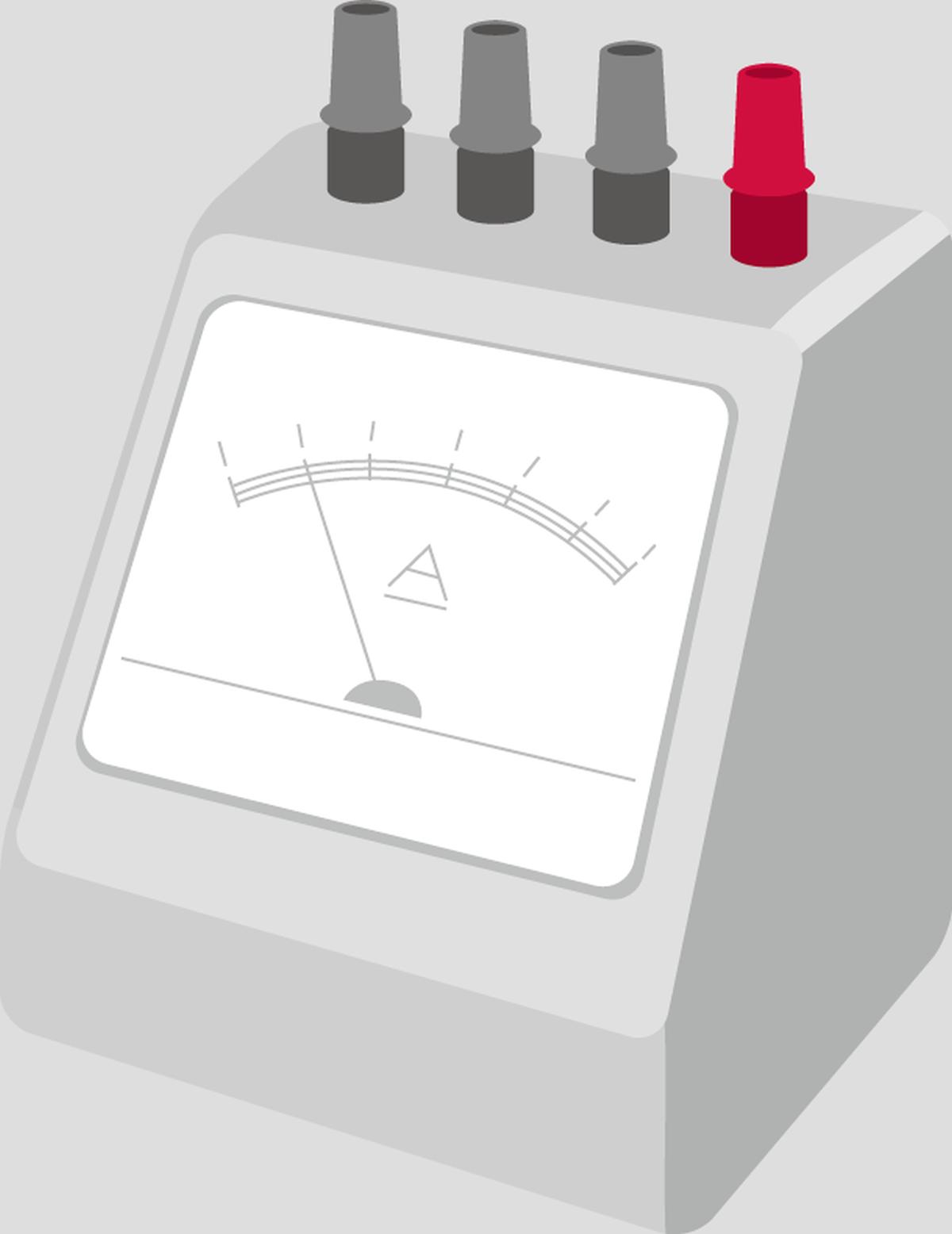 電流計のイメージイラスト