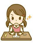 勉強に集中する小学生