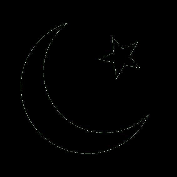 イスラム教のシンボル、月と星