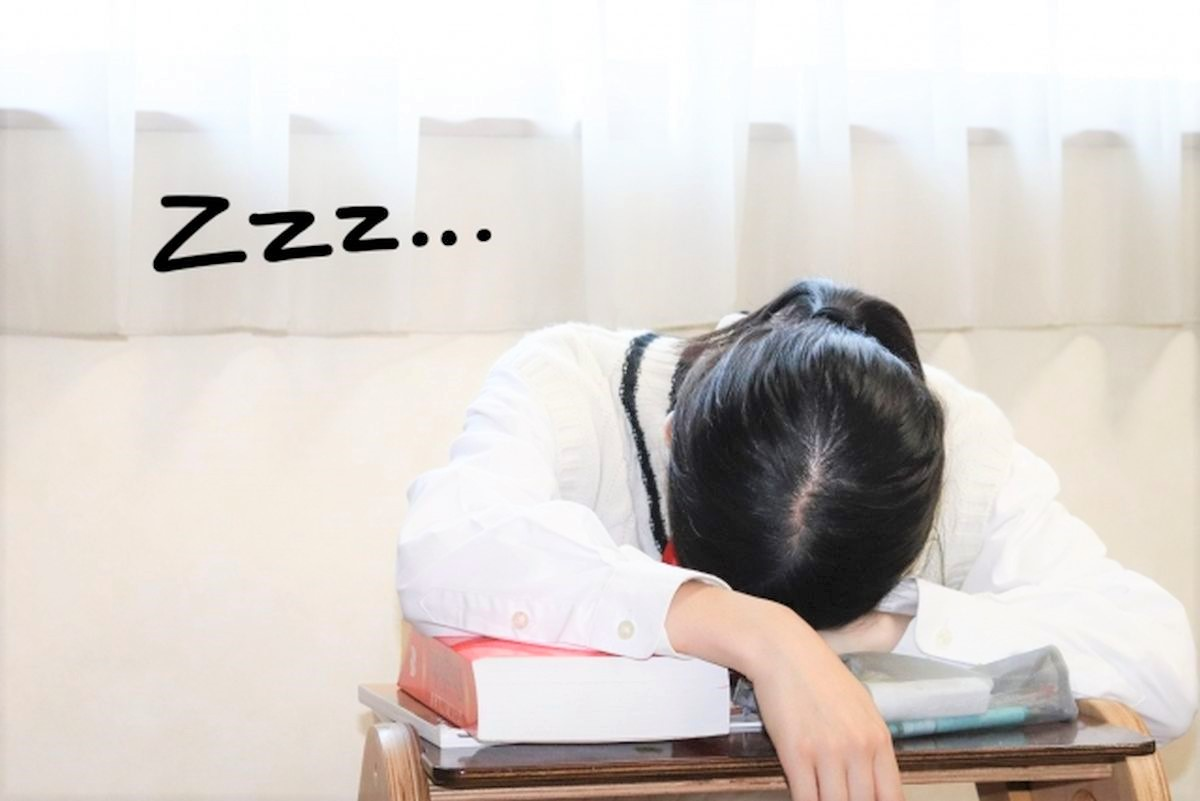 授業中に眠気に負ける生徒