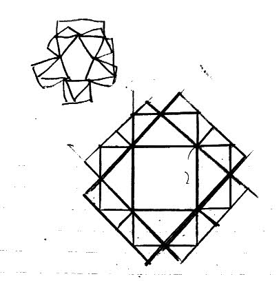 早稲田大学高等学院中の図形の問題を解いたノート