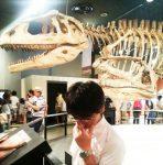 名古屋市博物館でガリレオの湯川先生のものまね