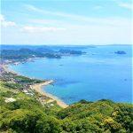 館山の海,鋸山から