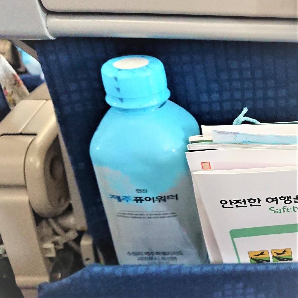 大韓航空,機内の水