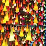 表参道,クリスマスイルミネーション,錐体のオブジェ
