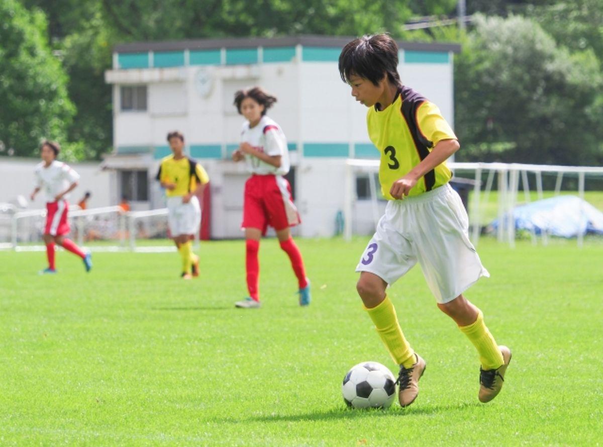サッカー部の練習風景