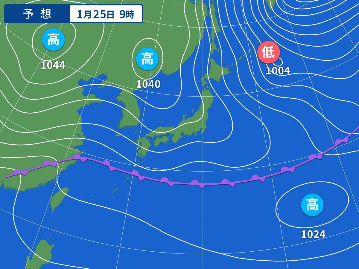 冬の天気図