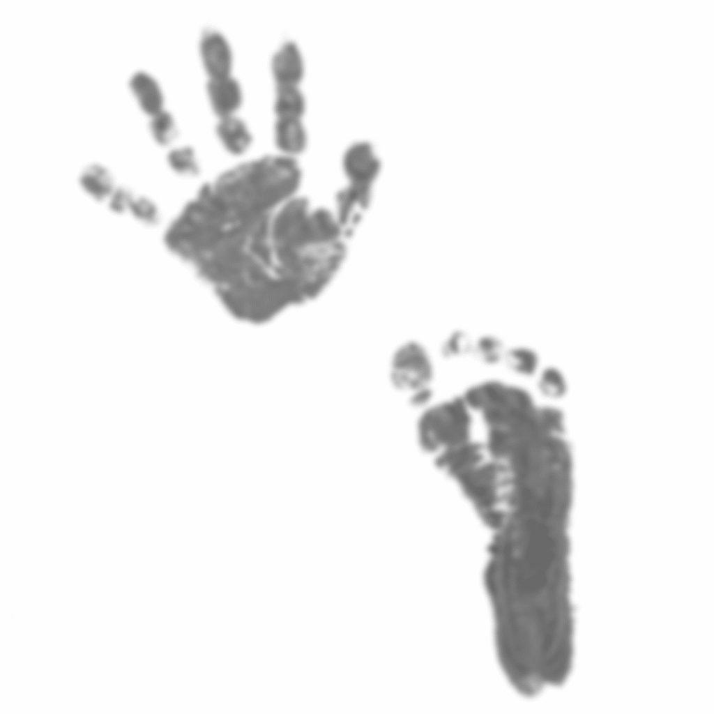 新生児の手形足形の成功例