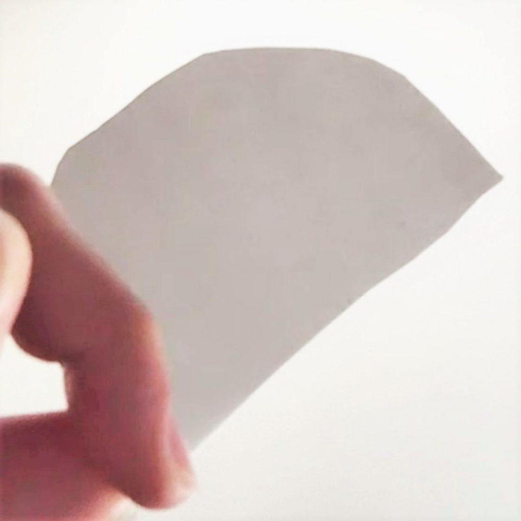 母線と半径の比が1:2の円錐の展開図