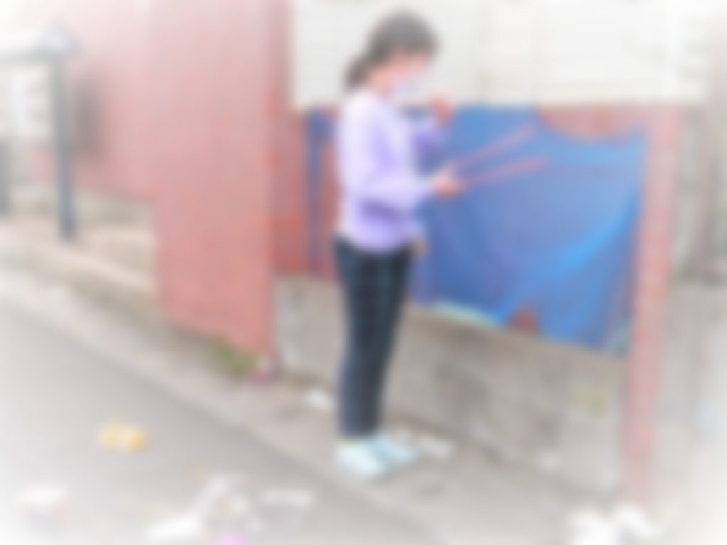 蘇我の生徒がゴミ拾い