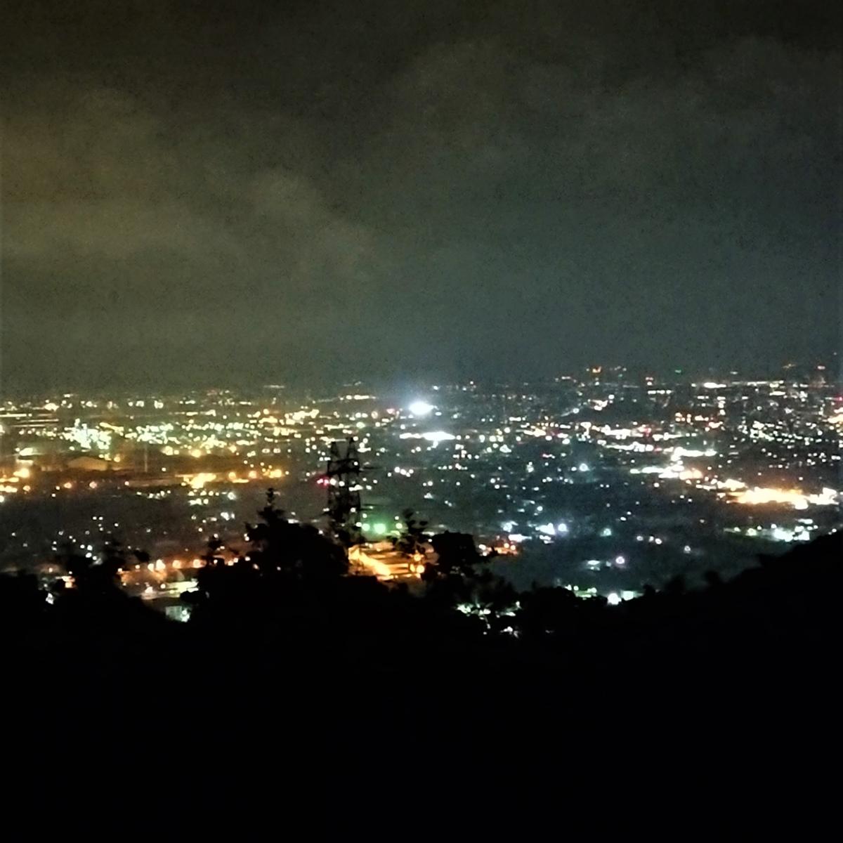 鷲羽山第二展望台からの夜景