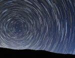 北極星を中心に日周運動する北の空の星