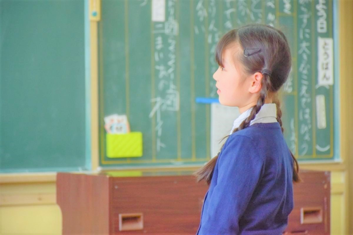 小学校の授業参観の様子