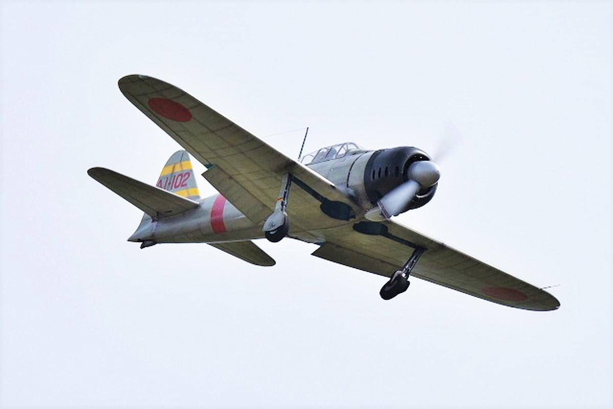 第二次世界大戦で使われたプロペラ機、零戦