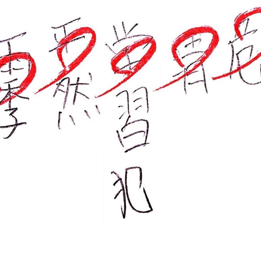 漢字の間違い「学習犯」