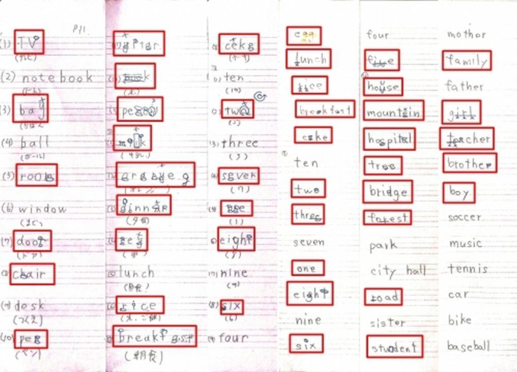 ファイの英語ノートチェック