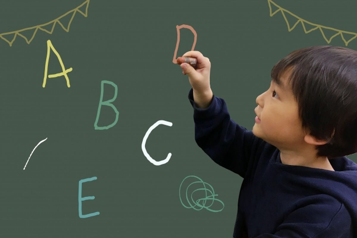 早期英語教育を受ける子ども