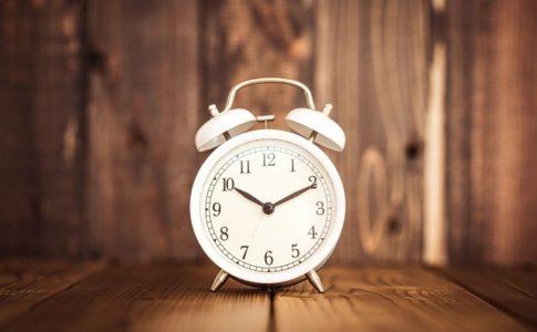 ベル式の目覚まし時計