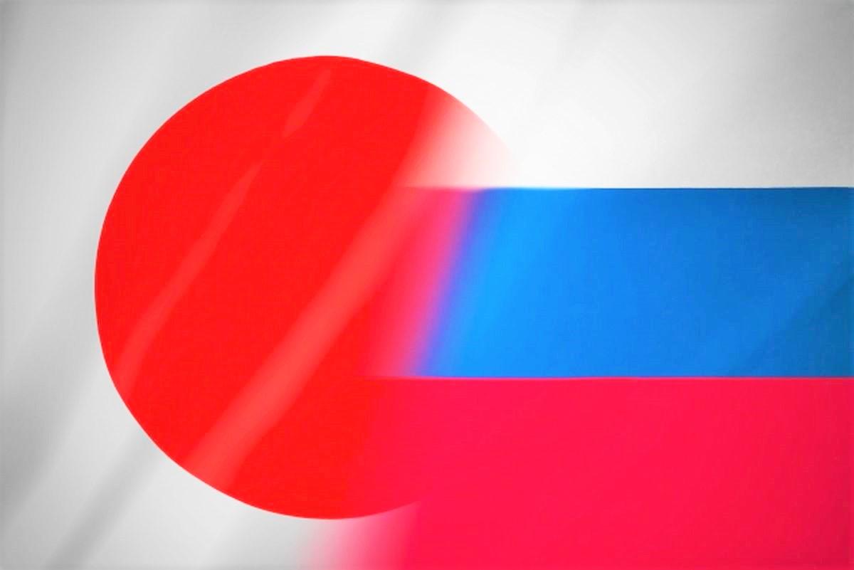 日本とロシアの国旗
