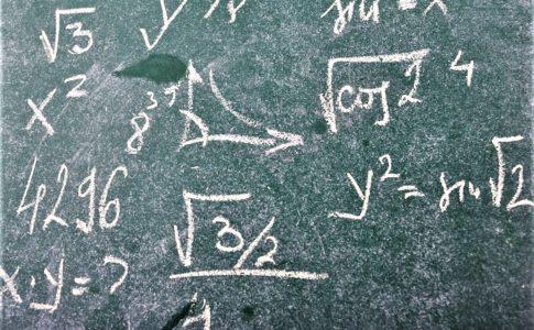 数学の黒板