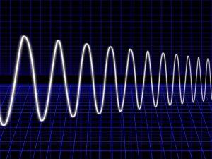 物理の周波数の波