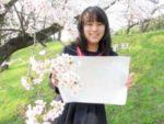 桜と合格証書
