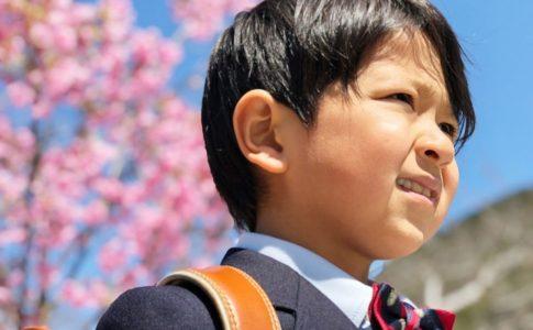 桜と男の子
