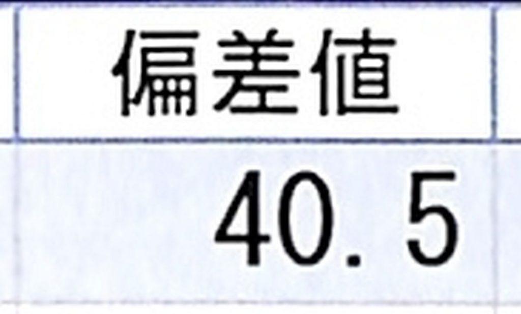 算数の偏差値40台から