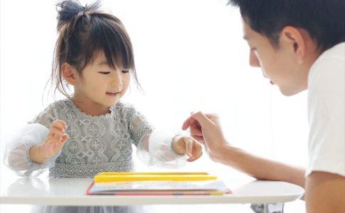 娘に勉強を教える親