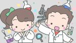 理科の実験のイメージイラスト