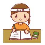 受験勉強をする小学生のイメージ