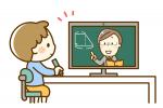 オンライン授業を受けている小学生のイメージ