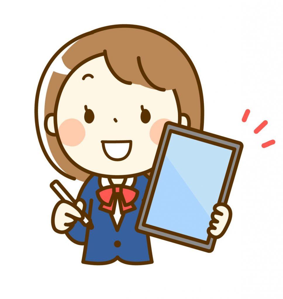 タブレットで勉強する塾生のイメージ